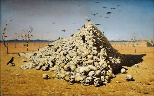 "Vasily Vereshchagin, ""The Apotheosis of War"" (1871)"