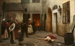 "Jakub Schikaneder, ""Murder in the House"" (1890)"