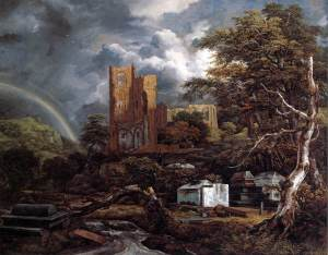 "Jacob Isaacksz van Ruisdael, ""The Jewish Cemetery at Odenkirk"" (1657)"