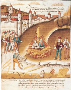 The Burning of Sodomites (unknown artist, German, 1482)